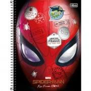 Caderno Espiral Universitário Spider-Man 80 Folhas Tilibra