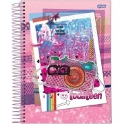 Caderno Espiral Universitário Toda Teen 96 Folhas Jandaia