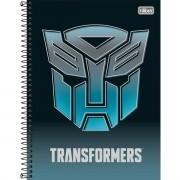 Caderno Espiral Universitário Transformers 80 Folhas Tilibra
