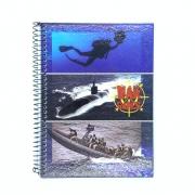 Caderno Espiral Universitário War Games 96 Folhas Máxima