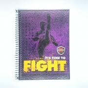 Caderno Espiral Universitário X Combat 96 Folhas Máxima