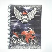Caderno Espiral Universitário X-Moto 96 Folhas Máxima