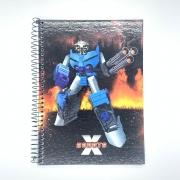 Caderno Espiral Universitário X Robots 96 Folhas Máxima