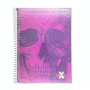 Caderno Espiral Universitário X Skull 96 Folhas  Máxima