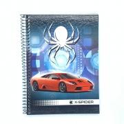 Caderno Espiral Universitário X-Spider 96 Folhas Máxima
