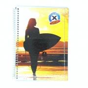 Caderno Espiral Universitário X Surfing 96 Folhas Máxima