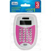 Calculadora De Bolso 8 Digitos Pequena TC11 Rosa Tilibra