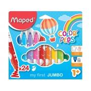 Canetinha Hidrográfica Color Peps Jumbo  24 Cores  Maped