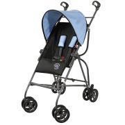 Carrinho De Bebê Passeio Capri Preto E Azul Galzerano