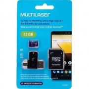 Cartão De Memoria Kit 3 Em 1 32Gb 10 Class MC151 Multilaser