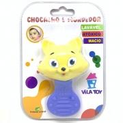 Chocalho E Mordedor Gato Azul 100 322 Vila Toy