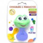 Chocalho E Mordedor Sapo Azul 100 332 Vila Toy