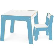 Conjunto Mesa Mais Cadeira Infantil Azul 991 Junges