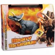 Dinossauro Megassauro Triceratops Com Som 3395 Dtc