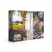 Dois Quebra-Cabeças 1000 Peças Recantos Italianos Toscana E Vinha Italiana 2667 Toyster