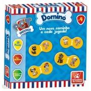 Dominó Esquadrão Pet 28 Peças Em Madeira Brincadeira De Criança
