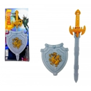Escudo E Espada Cavaleiro Dragão 693 Pica Pau
