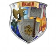Escudo Martelo E Machado Cavaleiro Dragão 692 Pica Pau