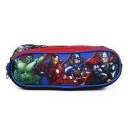 Estojo Soft Avengers Marvel Com 3 Divisões 11602 Dmw