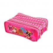 Estojo Triplo Cut Little Dog Pink 015LD-PK Look
