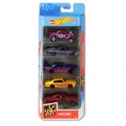 Hot Wheels Blister Com 5 Carrinhos Sortidos 1806 Mattel