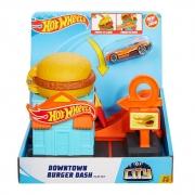 Hot Wheels Pista  Acessórios City Downtown Burger Dash Gjk73 Mattel