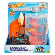 Hot Wheels Pista E Acessório City Downtown Ice Cream Meltdo Gjk74 Mattel