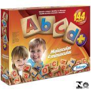 Jogo Abcd 144 Peças Em Madeira Xalingo