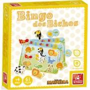 Jogo Bingo Dos Bichos Em Madeira 9664 Brincadeira De Criança
