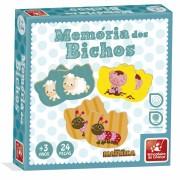 Jogo Da Memória Dos Bichos 24 Peças Em Madeira Brincadeira De Criança