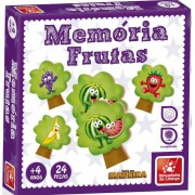 Jogo Da Memória Frutas 24 Peças Em Madeira Brincadeira De Criança