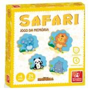 Jogo Da Memória Safari 24 Peças Em Madeira Brincadeira De Criança