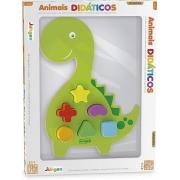 Jogo De Encaixar Animais Didáticos Dino 864 Junges