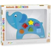 Jogo De Encaixar Animais Didáticos Elefante 860 Junges