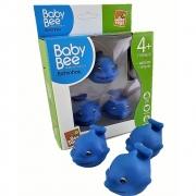 Kit De Banho Baby Bee Golfinho 3 Filhotes 3080 Bee Toys