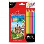 Lápis De Cor 12 Cores Mais 6 Cores Neon Faber Castell