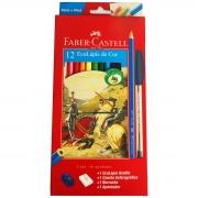 Lápis De Cor 12 Cores Sextavado Faber Castell