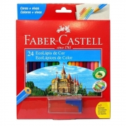 Lápis De Cor 24 Cores Ecolapis Faber Castell