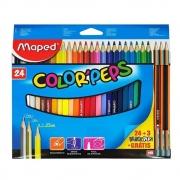 Lápis De Cor Color Peps 24 Cores + 3 Lápis Black Peps Maped