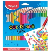 Lápis De Cor Color Peps Star 48 Cores Maped