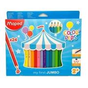 Lápis De Cor Jumbo Color Peps 24 Cores Maped