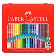 Lápis De Cor Lata EcoLápis Grip 24 Cores Faber Castell