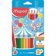 Lápis Jumbo Triangular Color Peps 12 Cores Maped