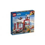 Lego City Quartel Dos Bombeiros 509 Peças 60215