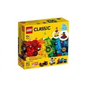 Lego Classic Blocos E Rodas 653 Peças 11014