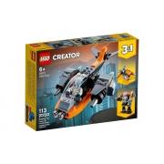 Lego Creator Ciberdrone 113 Peças 31111
