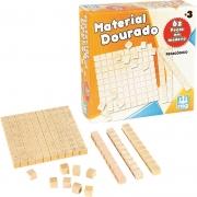 Material Dourado 62 Peças Em Madeira Nig Brinquedos