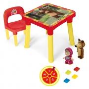 Mesa Com Cadeira Infantil Masha E O Urso 0015 Monte Líbano