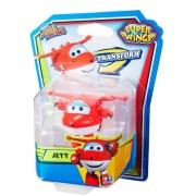 Mini Avião Super Wings Jett Change Vermelho Fun