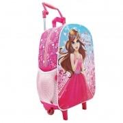 Mochila Com Rodinha Pink Princess 105401 Colorizi